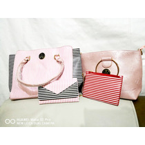 Bolsos De Dama Set De 4 Unidades Color Rosa