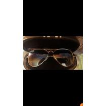 Sunglasses Ray-ban Gold 55 Mm Lentes Ray-ban